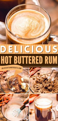 Looking for the perfect holiday drink? You have to try this Hot Buttered Rum! It's quick and easy to make, plus it's irresistible. Add this to your list of Christmas drinks or Thanksgiving drinks!