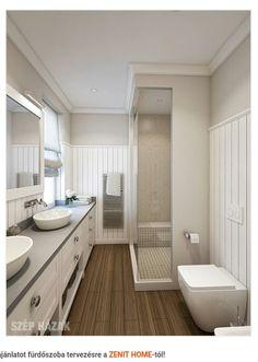 Hosszú keskeny dupla mosdó