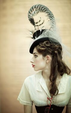Dark Garden Unique Corsetry : hat & corset http://www.pinterest.com/TheLadyApryle/if-there-be-steam/
