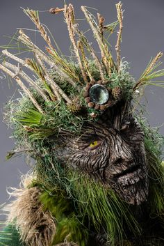 """""""Make It Reign"""" Forest Goblin King.- Kris and Alam : Face Off Movie Makeup, Makeup Art, Sfx Makeup, Vegetal Concept, Face Off Makeup, Face Off Syfy, Prosthetic Makeup, Style Steampunk, Fantasy Costumes"""