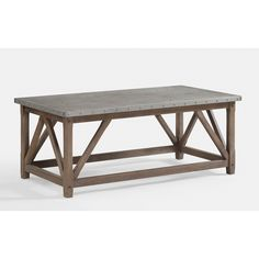 Zinc Top Bridge Coffee Table - Overstock™ Shopping - Great Deals on Coffee, Sofa & End Tables