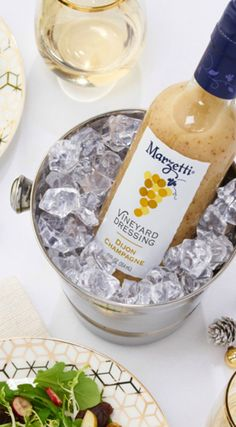 Add a little sparkle to your holiday party salad with our Dijon Champagne Vineyard Dressing.