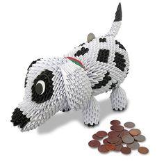 3D Modular Origami Cute Puppy/Dog Piggy Bank/Money Box Handmade Paper Art  P28