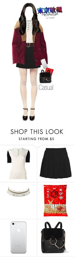 """""""TK Oc Yuri"""" by helpme-universe ❤ liked on Polyvore featuring Courrèges, Charlotte Russe and Chloé"""