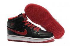 kopen Retro Nike Air Jordan 1 voor Dames schoenen 07 zwart rood wit  nederland onlne shop