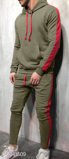 Tracksuits Sleek Style Men's Tracksuits  Fabric: Polyester  Sleeves: Sleeves Are Included  Size: S - Top - Chest - 38  in, Length - 27 in Bottom - Waist - 30 in M - Top - Chest - 40 in, Length - 28 in Bottom - Waist - 32 in L - Top - Chest - 42 in, Length - 29 in Bottom - Waist - 34 in   XL - Top - Chest - 44 in, Length - 29.5  in Bottom - Waist - 36 in   XXL - Top - Chest - 46 in, Length - 30 in Bottom - Waist - 38 in Type: Stitched Description: It Has 1 Piece Of  Men's Top & 1 Piece Of Bottom Pattern :Solid Sizes Available: S, M, L, XL, XXL *Proof of Safe Delivery! Click to know on Safety Standards of Delivery Partners- https://ltl.sh/y_nZrAV3  Catalog Rating: ★4 (2939)  Catalog Name: Divine Sleek Style Men's Tracksuits Vol 8 CatalogID_741186 C70-SC1402 Code: 907-5041509-