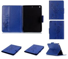 iPad 3,4 / Air 2 / Mini 4 - Butterfly Bling Protective Card Case in Assorted Colors