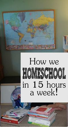 Homeschooling Schedule - how we homeschool in only 15 hours a week including all cour subjects with three kids