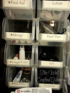 The Well Crafted Home: Made By Me Mondays #19: Organized Bathroom Cabinet