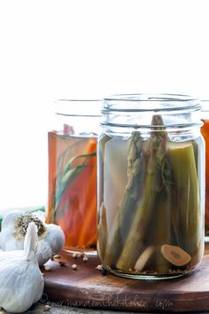 Easy Quick Pickled Asparagus and Carrots with Tarragon and Spices from GourmandeintheKitchen.com