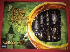 Lord of The Rings Fellowship of The Ring Chess Set SEALED by Hasbro 2002 | eBay