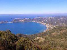 What a View! Georges Bay in Corfu , Greece Corfu Greece, Crete, Small Island, Greek Islands, Bucket, River, Blog, Outdoor, Greek Isles