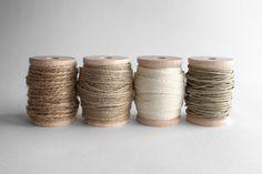 ribbon & twine kit - jute ribbon + hemp twine + jute twine + cotton twill tape