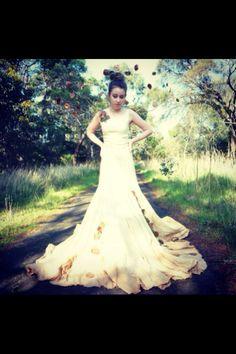 Tree dress for my VCE final of wearable art