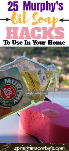 household hacks Murphy's oil soap is one of the best cleaners with such a nice smelling aroma, this specially formulated soap is safe for the environment. It can be used on pets and it Homemade Cleaning Supplies, Diy Home Cleaning, Household Cleaning Tips, Cleaning Recipes, House Cleaning Tips, Cleaning Hacks, Spring Cleaning, Best Cleaner, Keep It Cleaner