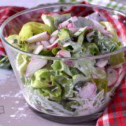 Sałata masłowa słodko-kwaśna Potato Salad, Cabbage, Salads, Food And Drink, Potatoes, Vegetables, Ethnic Recipes, Finger, Fit
