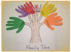 Family tree take home activity. Take home and have family trace one hand with name on it to bring back for craft