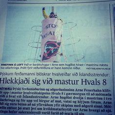 Hard To Port making headlines in Icelandic newspaper.