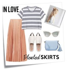 """""""Pleated skirts#1"""" by love-hearts-letters ❤ liked on Polyvore featuring Post-It, Cédric Charlier, Miu Miu, Monki, Dita, Kate Spade and Polaroid"""
