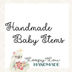 Handmade Baby Items, Words, Horse
