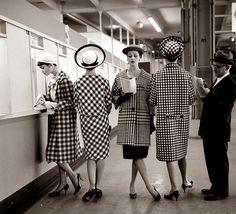 Vintage fashion photography by Nina Leen