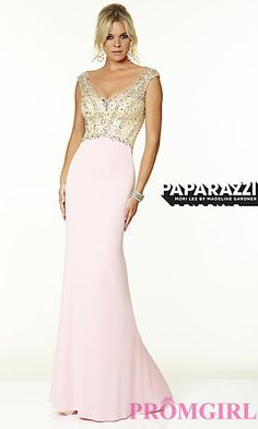V-Neck Jersey Gown by Mori Lee at PromGirl.com