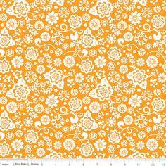 Fancy Free Floral Orange