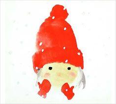 The Girl Wearing a Red Woolen Cap - por Chihiro Iwasaki Chihiro Art Museum Watercolor Illustration, Watercolor Paintings, Watercolour, Japanese Watercolor, India Images, Red Hats, Pics Art, Beautiful Paintings, Art Google