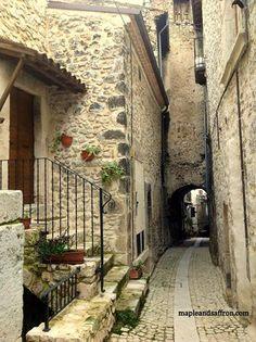 Narrow cute streets...