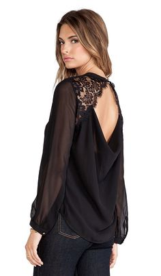 heartLoom Shea Top in Black from Revolve Clothing
