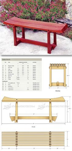 Outdoor Bench Plans - Outdoor Furniture Plans and Projects - Woodwork, Woodworking, Woodworking Tips, Woodworking Techniques Woodworking Bench Plans, Wood Plans, Woodworking Furniture, Diy Wood Projects, Furniture Projects, Diy Furniture, Outdoor Furniture Plans, Planer, Stools