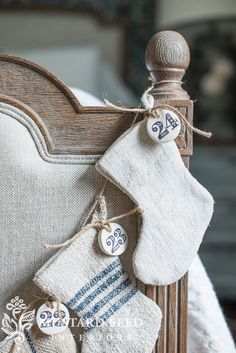Christmas Stocking's - these sweet stockings could be used in sooo many ways: advent, door knob or tree decorations ... .