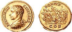RI213 A Rare Roman Gold Aureus of Geta (198-209 C.E.) as Caesar, the Wedding of Dionysos and Ariadne Depicted on the Reverse | Flickr - Photo Sharing!
