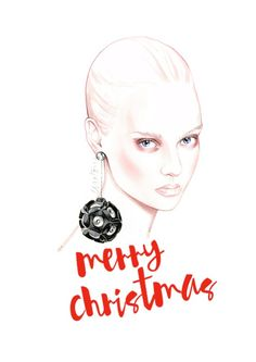 Merry Christmas - fashion illustration by António Soares
