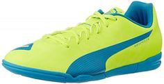 Puma Evospeed 5.4 It - safety yellow-atomic blue-whit, Größe:11.5 - http://uhr.haus/puma-6/11-5-puma-evospeed-5-4-it-herren-hallenschuhe-gelb