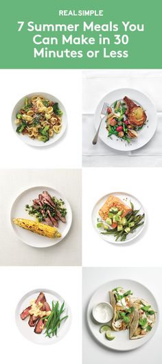 7 Summer Meals You Can Make in 30 Minutes or Less | Take the guesswork out of dinnertime with these super speedy, super delicious suppers.