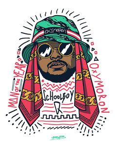 Schoolboy Q by Slobodan Medarevic, via Behance