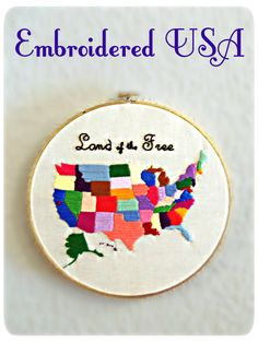 DIY Embroidered United States of America
