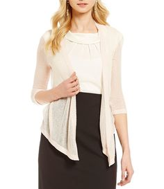 Blush:Alex Marie Charlene Long Sleeve Drape Cardigan
