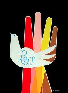 Vintage Poster - anti-war - peace - dove - 1968 - 60's - Giclee print - Joe Simboli