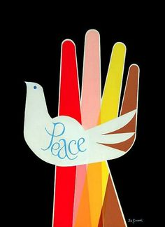 Vintage Poster - anti-war - peace - dove - 1968 - 60's - Giclee print - Joe Simboli