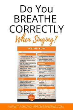 Use this free breathing checklist to discover your strengths and areas for development to transform your singing! Vocal Lessons, Singing Lessons, Singing Tips, Music Lessons, Singing Quotes, Art Lessons, Music Sing, Piano Music, Sing Sing