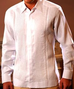 President Exquisite Guayabera for Wedding design. - Irish Linen sublime soft Linen Guayabera for wedding. Imported from Mexico. Dry clean a must. Slim fit. Modern style guayabera. Pure white. Runs normal.