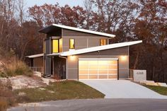 Haus Flachdach Garage Einfamilienhaus planen bauen
