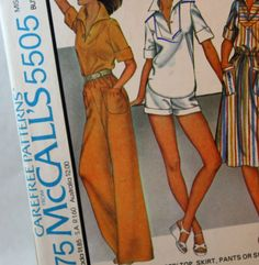 Vintage 1970s Sewing Pattern McCall's 5505 by Old2NewMemories, $5.75