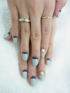Different! Pearl nail art ideas #nails #nailart