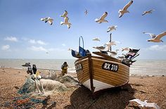 Living the View - Commended & Judge's choice: Fisherman at work, Hastings, East Sussex, England by Corin Brown, London Hastings Beach, Hastings Old Town, Hastings East Sussex, Caravan Holiday, Uk Holidays, Seaside Holidays, British Seaside, Holiday Park, Beach Gardens