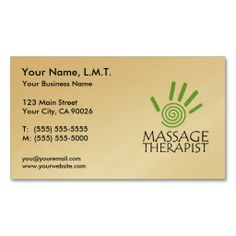 Massage Therapist Business Cards Template | Card templates, Business ...