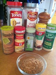 Mccormick s Meatloaf Seasoning Mix from : couldn't find any meatloaf seasoning packet-type recipes on here (cuz i don't like to buy them) for more flavor. found this little gem on Homemade Spices, Homemade Seasonings, Meatloaf Recipes, Beef Recipes, Cooking Recipes, Homemade Meatloaf, Smoker Recipes, Sloppy Joe Seasoning Recipe, Meat Rubs