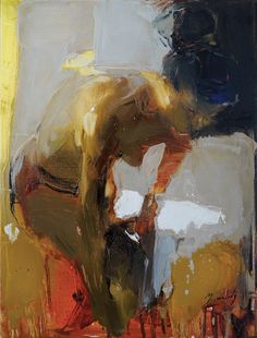 "Iryna Yermolova; Oil 2013 Painting ""Girl putting tights on sketch 1 (NOT AVAILABLE)"""